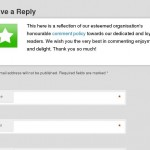 Custom Comments Notice for Wordpress