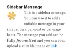 Sidebar Message