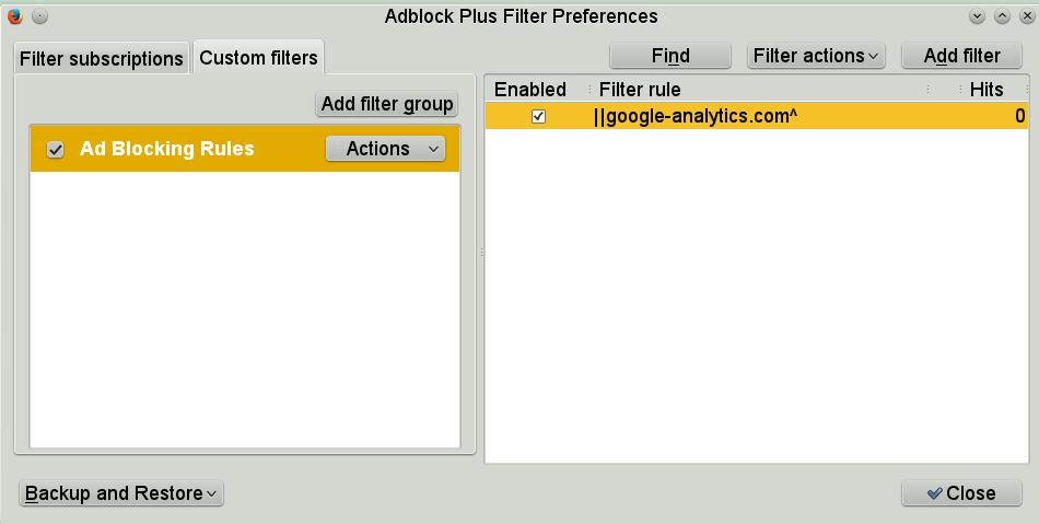 Custom AdBlock Plus filter